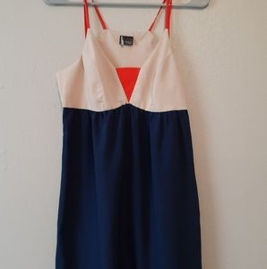 UO Sparkle and Fade Strappy Colorblock Dress